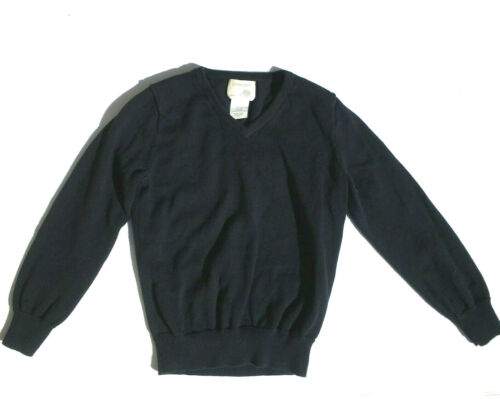 CREWCUTS sz 4-5 yr Navy Blue Boys Sweater V Neck 100% Cotton