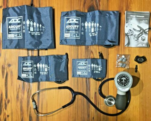 ADC Multikuf 4-Cuff Kit w/ Palm Aneroid Sphygmomanometer & ADC Stethoscope
