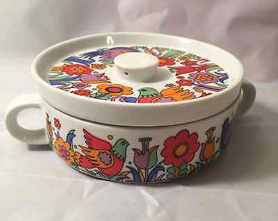 Royal Crown porcelain ovenware casserole with lid