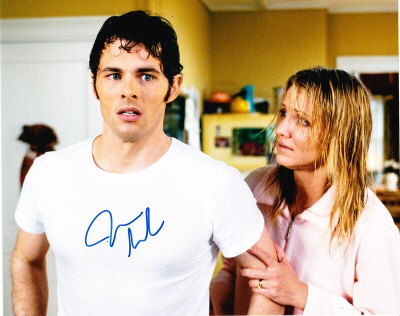 JAMES MARSDEN SIGNED 8X10 PHOTO AUTHENTIC AUTOGRAPH STRAW DOGS HOP ENCHANTED