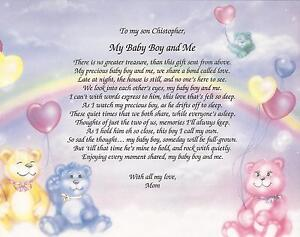 Personalized-Poem-My-Baby-Boy-Me-Bears-Hearts-Great-Gift-for-Shower-Decor
