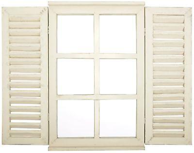 Esschert Espejo Madera Spiegelfenster Persianas Plegables Ventana Casa de Campo