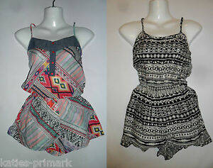 PRIMARK-STRAPPY-VEST-TOP-SHORT-BOTTOMS-PLAYSUIT-SUMMER-PLAY-SUIT-FESTIVAL-6-20