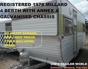 REGISTERED 1978 MILLARD, 4 BERTH FULL CARAVAN WITH ANNEX. Heathcote Sutherland Area Preview