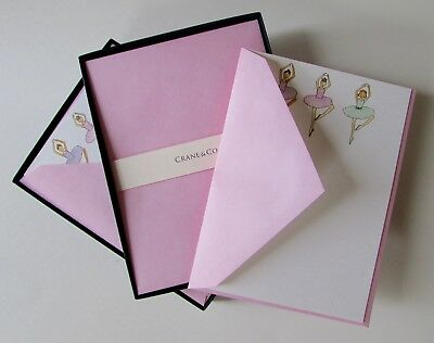 (NEW Crane & Co. BALLERINA Imprintable Stationery 2 Boxes 20 Flat Cards)