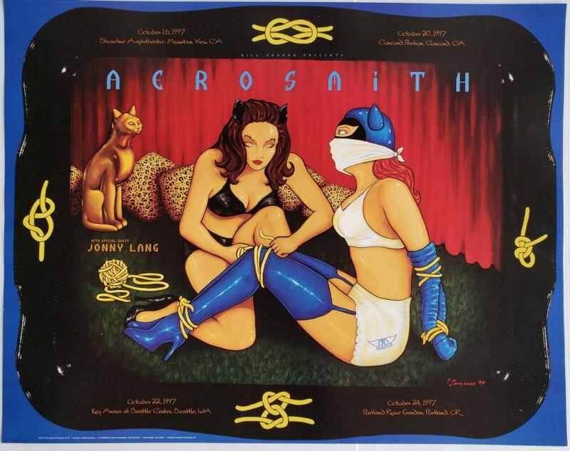 Aerosmith Concert Poster 1997 Jonny Lang BGP-178
