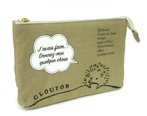 Hedgehog Paris Sera Toujours Paris 3 Layers Cosmetic Bag Pouch (w/ tracking no.)