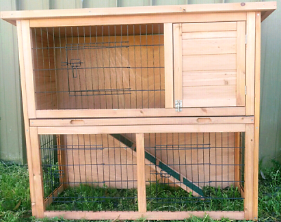 🐇🥕🎅DELUXE double story hutch rabbits guinea pigs 1115 long