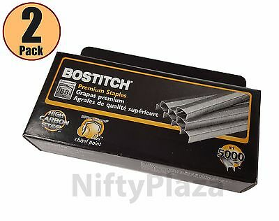 Lot Of 2 New Boxes Stanley-bostitch B8 Staples 14 5000 Per Box 10000 Total