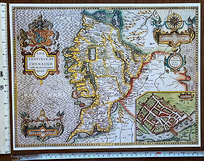 COUNTY CAVAN IRELAND IRISH VINTAGE MAP ART PRINT Poster History Decor Antique