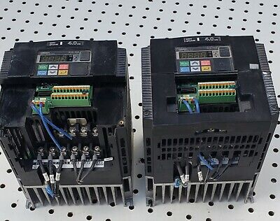 2x Omron 3g3mx2-a4040-v1 4.0kw Mx2 Inverter 3 Phase Missing Parts Still Work