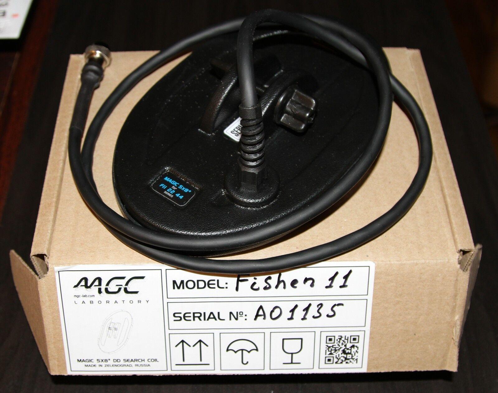 """Magic 5x8"""" DD Search coil for Fisher F11 F22 F44"""