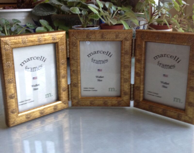 NEW! A Trio Of Photo Frames/Hinged By: Marcelli. MINT!