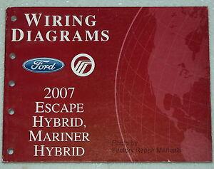 2007 ford escape mercury mariner hybrid electrical wiring ... 2002 mercury villager wiring harness diagram #6