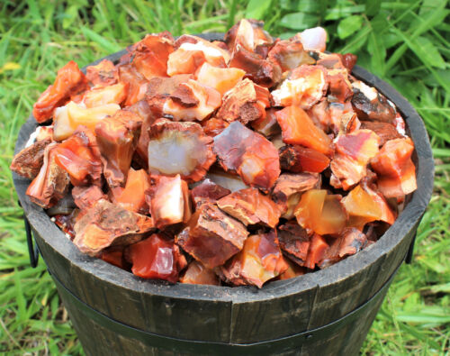 1/2 lb Bulk Lot Natural Rough Carnelian (Raw Stone Crystal, MADAGASCAR, 8 oz)