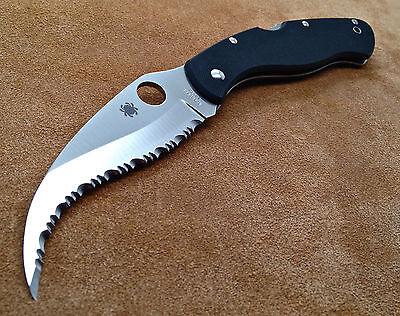 Spyderco Civilian C12GS - Wicked S curve Blade - VG-10 Steel G-10 handle - New !