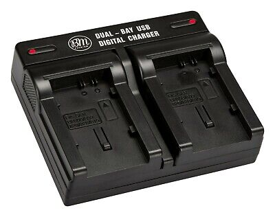 BM Premium Dual Bay Battery Charger for BP-819, BP-820, BP-827, BP-828 Batteries