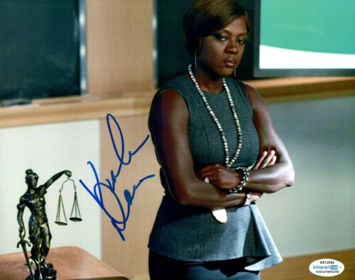 Viola Davis Signed Autographed 8x10 Photo HOW TO GET AWAY WITH MURDER ACOA COA