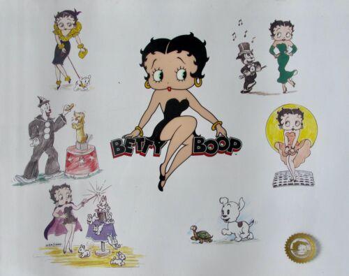 "BETTY BOOP ""Bravo Betty"" Limited Edition Animation Art Sericel Cel"