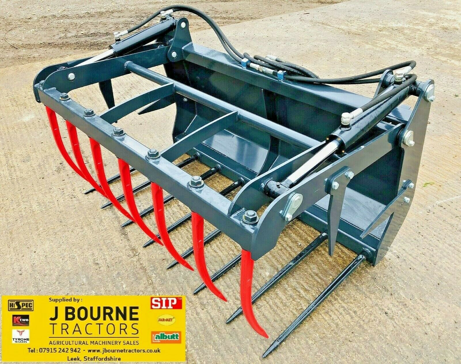 NEW EURO 8 MUCK GRAB ,Choice of sizes to fit tractor , massey ,john deere,bucket