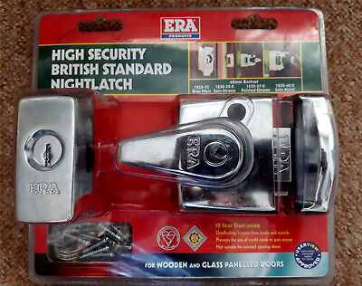 Era 1830 -37 - 2T  High Security Night Latch 40mm Polished Chrome