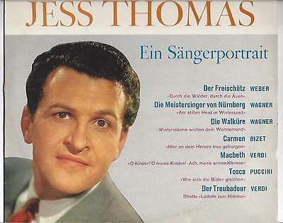 Jess Thomas - Ein Sängerporträt - 25 cm LP aus den 60er Jahren- Horst Stein diri