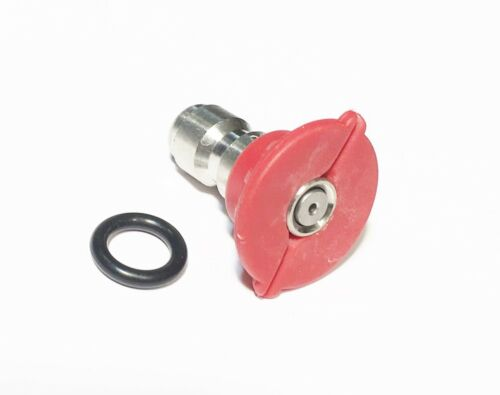 Pressure Washer Quick Connect Tip Nozzle Size 3.5 GPM Red 0 Degree Spray Angle