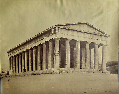Athens, Temple of Hephaestus (Theseus) Vintage c.1880 albumen photo
