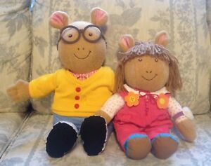 Talking Arthur Plush & Dress Me D.W. Plush w/ Book Set