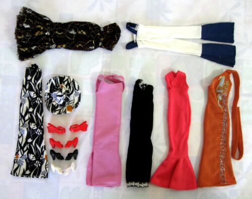 VINTAGE  1976 MEGO LOT of  CHER  CLOTHES  and SHOES..EXCELLENT