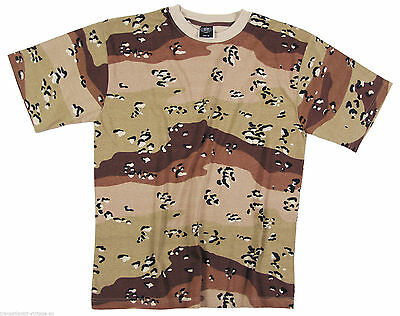 Desert 6COLOR Camouflage MENS Tactical Military Short Sleeve T-Shirt SIZE S -2X