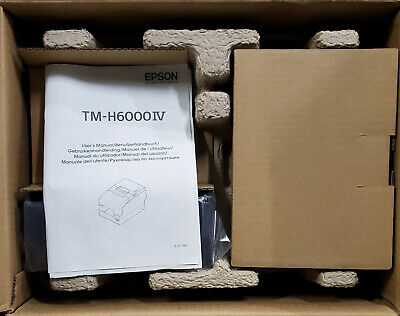 Epson Tm-h6000iv 024 Pos Thermal Receipt Printer Wmicr Reader Endorsement