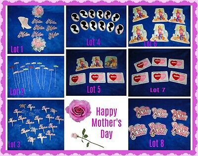 New Vintage Mother's Day Plastic PICKS/lcaketops Cupcakes, Bento, treats, crafts (Mother's Day Crafts)