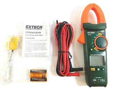 Extech Clamp On Digital Clamp Meter -40 To 1832f Temp. Range 1.2 Jaw Ma443