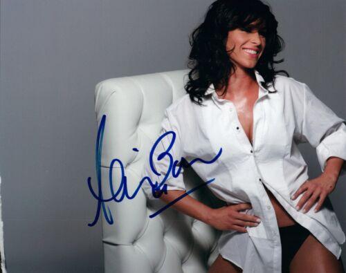 Allison Baver Signed Autograph 8x10 Photo US Olympics Speed Skater Sexy Pose COA