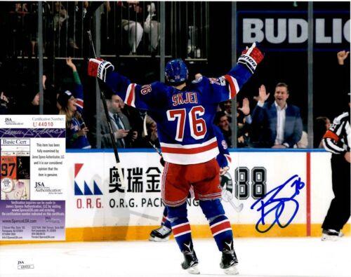 Brady Skjei Signed 11x14 Photo w/ JSA COA #U44010 New York Rangers NY