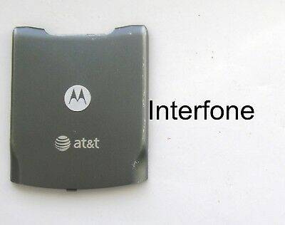 Rare Used Grey Rear Battery Cover for Motorola V3xx Mobile Phone-AT&T Logo.