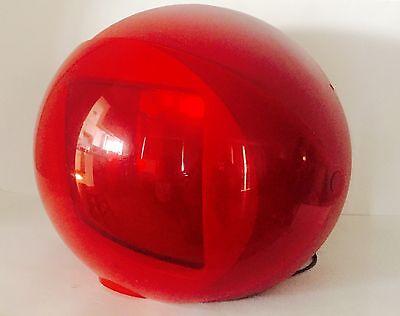 RARE Space Age Modern TV Memorex Helmet Shield RED Sphere Orb Television Set