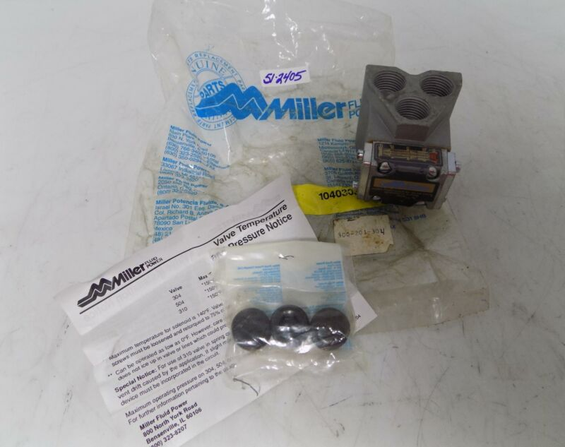 MILLER FLUID POWER SUBPLATE  300-201-304 NIB