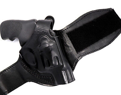 - TAGUA BLACK LEATHER RIGHT HAND ANKLE HOLSTER for RUGER LCR REVOLVER