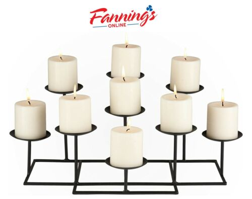 New Opened SEI Furniture Black Metal Frame Geometric Transitional, 9 Candles