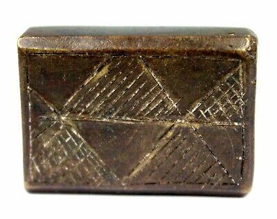 Art African - Antique Weight Bronze Akan - Goldweight - Coin Massive - 90 Grs