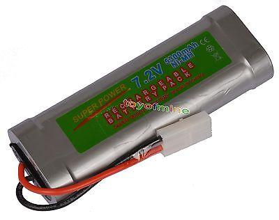 1 pcs 7.2V 5300mAh Ni-Mh rechargeable battery pack RC w/ Tamiya Plug USA