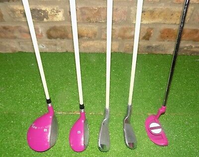 Wilson Hope Girl's Junior Golf Set Right Handed Pink 5-pc Graphit (Junior Golfschläger Graphit)