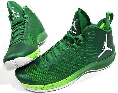 JORDAN Super.Fly 5 Team basketball Shoes-12.5- NEW- Rare Green Nike Sneakers-