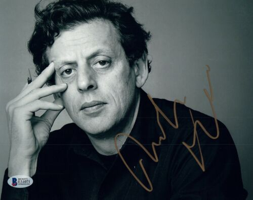 Philip Glass Signed Autographed 8x10 Photo Classical Composer Beckett BAS COA
