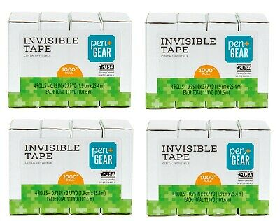 16 Rolls Pen Gear Invisible Tape Refills 34 X 1000 New Sealed