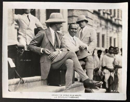"1931 DOUGLAS FAIRBANKS SR ""AROUND THE WORLD IN 80 MINUTES"" MOVIE PUBLICITY PHOTO"