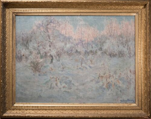 Albert Julius Olsson Oil Painting, Winter Landscape, Signed, Beautiful & Rare!
