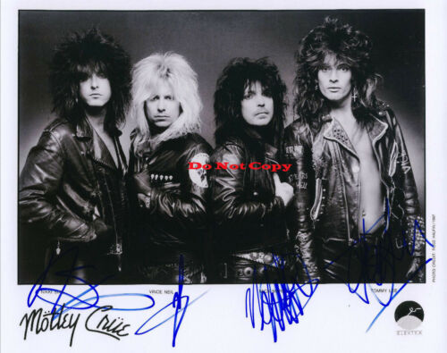 Motley Crue Autographed Signed 8x10 Photo Reprint